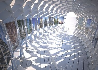 An innovative portable recyclable exhibition space for Space defining elements in architecture