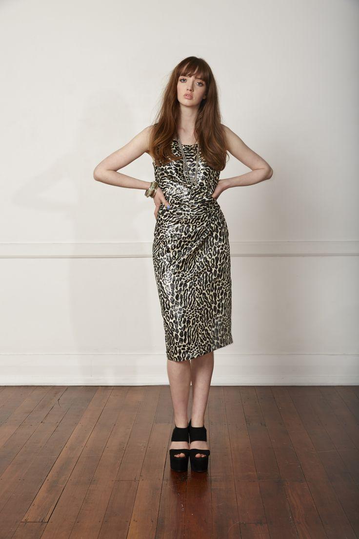 Carlson Legend Dress - Leopard Lurex