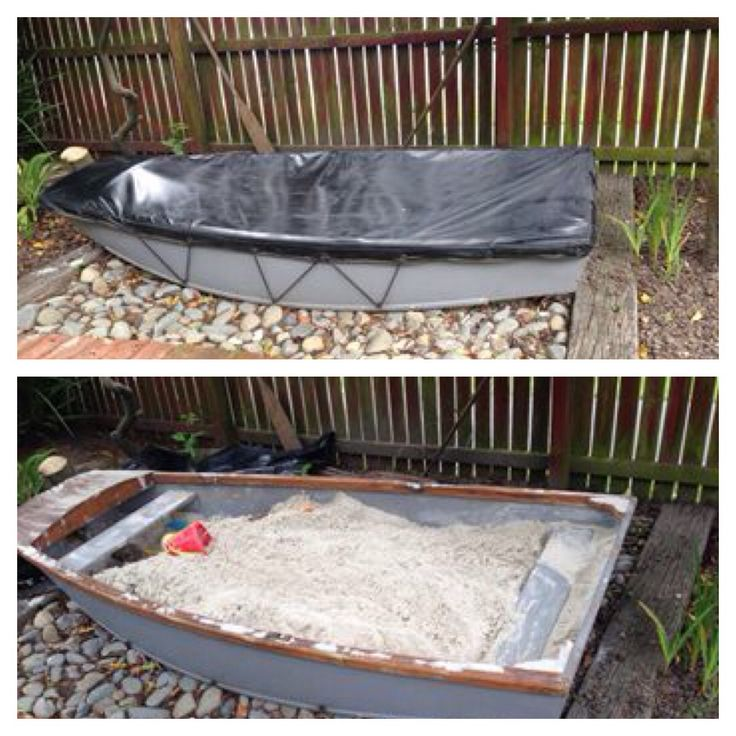 Simple but awesome sandpit idea-old dingy or boat
