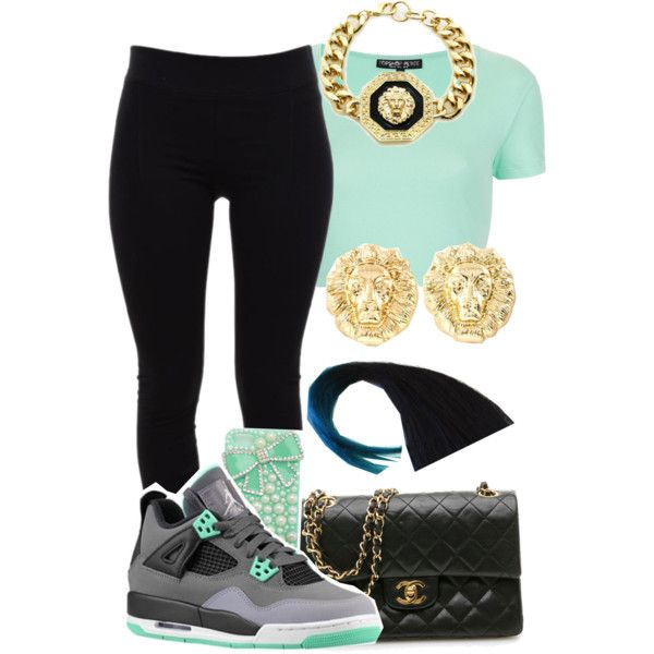 """Glo Girl"" by mickey-d-be-my-name on Polyvore Cheap Jordan Retro 4  Grade School only $61.2, save up to 59% off for all #Nikes #Shoes"