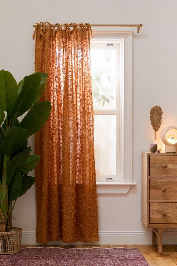 Winnie Eyelash Window Panel In 2020 Living Room Orange Orange Curtains Living Room Curtains Living Room