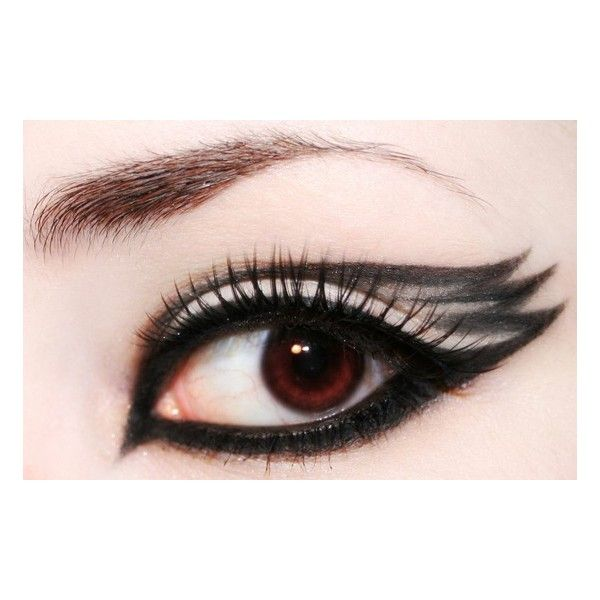Pretty eyes, pretty faces / black swan makeup found on Polyvore