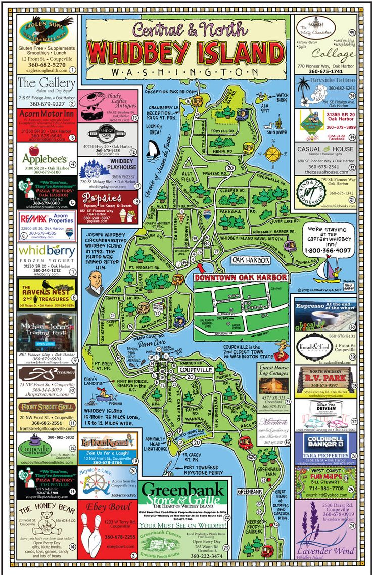 Fun Maps USA - North Whidbey Island, Washington