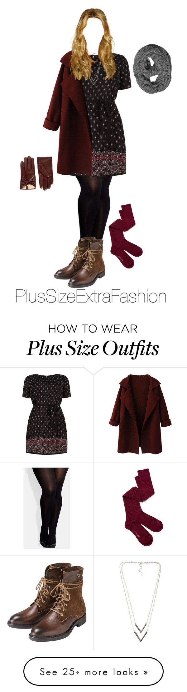 """Plus Size Winter Date Night Outfit ft. Dress and Boots"" by plussizeextrafashion on Polyvore featuring City Chic, GANT, NLY Accessories, WithChic, tabbisocks, women's clothing, women's fashion, women, female and woman"