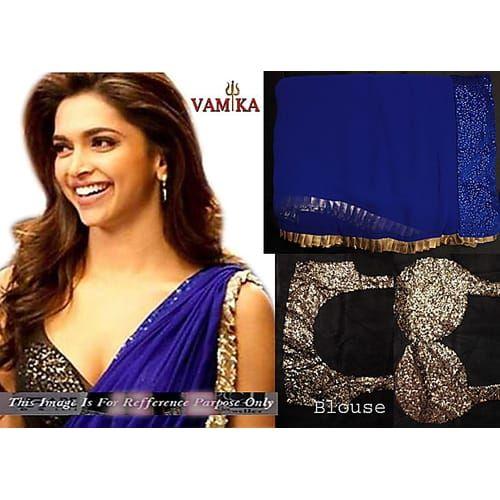 Royal Blue Bollywood Replica Saree