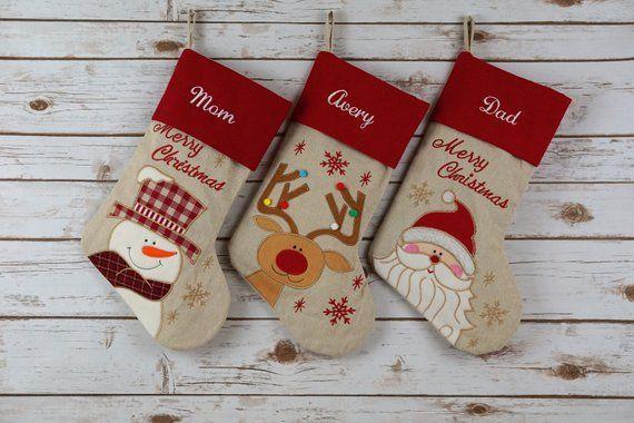 Personalized Christmas Stocking Christmas Stockings Etsy Christmas Stockings Personalized Christmas Stockings Diy Christmas Stockings