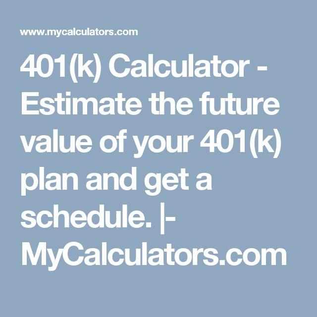 25+ unique 401k estimator ideas on Pinterest Dave ramsey - 401k calculator