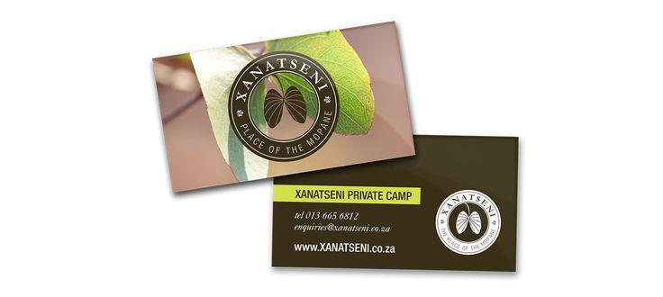 Xanatseni Private Camp: Graphic Design by Electrik Design Agency www.electrik.co.za/