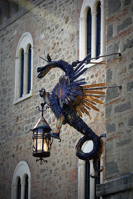 Sotto il segno del Drago by marta ( on - off ), via Flickr. don't know the translation but I know it's about a dragon streetlamp