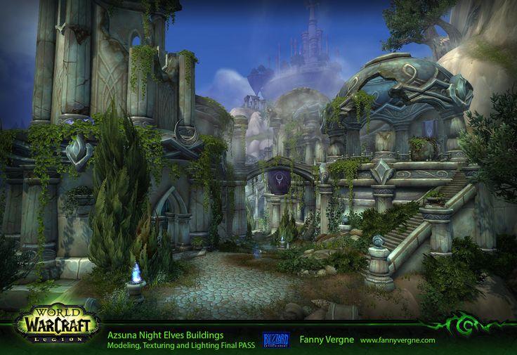 "ArtStation - Azsuna Night Elves - World of Warcraft ""Legion"" (and extra), Fanny…"