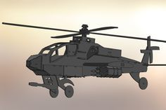 Apache Helicopter AH-64, sheet metal puzzle, military, 3d model, metalcraftdesign - STEP / IGES, SolidWorks, STL, Other - 3D CAD model - Gra...