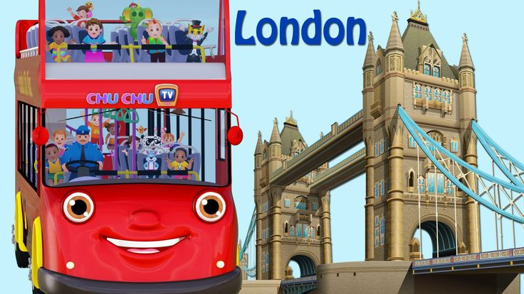 Wheels On The Bus Go Round And Round Song | London City  | Popular Nurse...