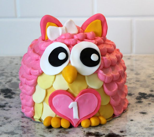 Cuuuuuuutest owl smash cake!! Love this!