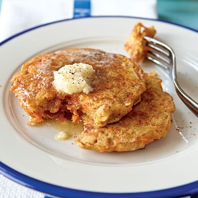 Carrot Cake Pancakes   Enjoy pancakes at any time of day, especially when they are packed with nutrient-rich foods like carrots, walnuts, and canola oil. These hearty flapjacks are flavored with the same spices as carrot cake, cinnamon, nutmeg, ginger, and cloves but have a fraction of the fat and calories as traditional cake. Kids love their sweet flavor as well as the novelty of eating a cake-flavored food for a meal.    Parents, use a box grater to finely grate the carrots or break out…