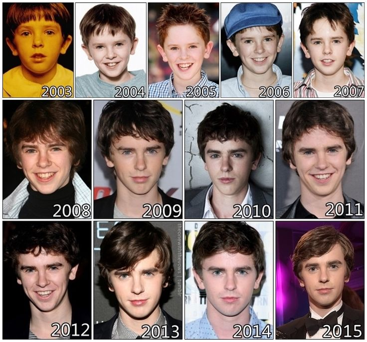 the evolution of freddie highmore acteurs chanteurs pinterest freddie highmore freddie. Black Bedroom Furniture Sets. Home Design Ideas