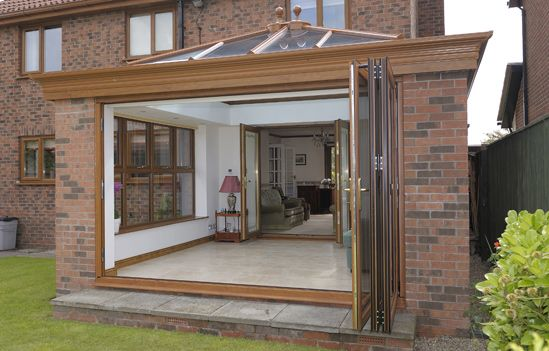 Bi folding doors bi fold doors from james oliver for Conservatory doors exterior
