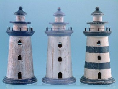 Lighthouses.  I want to make this, but with red strips instead of blue.