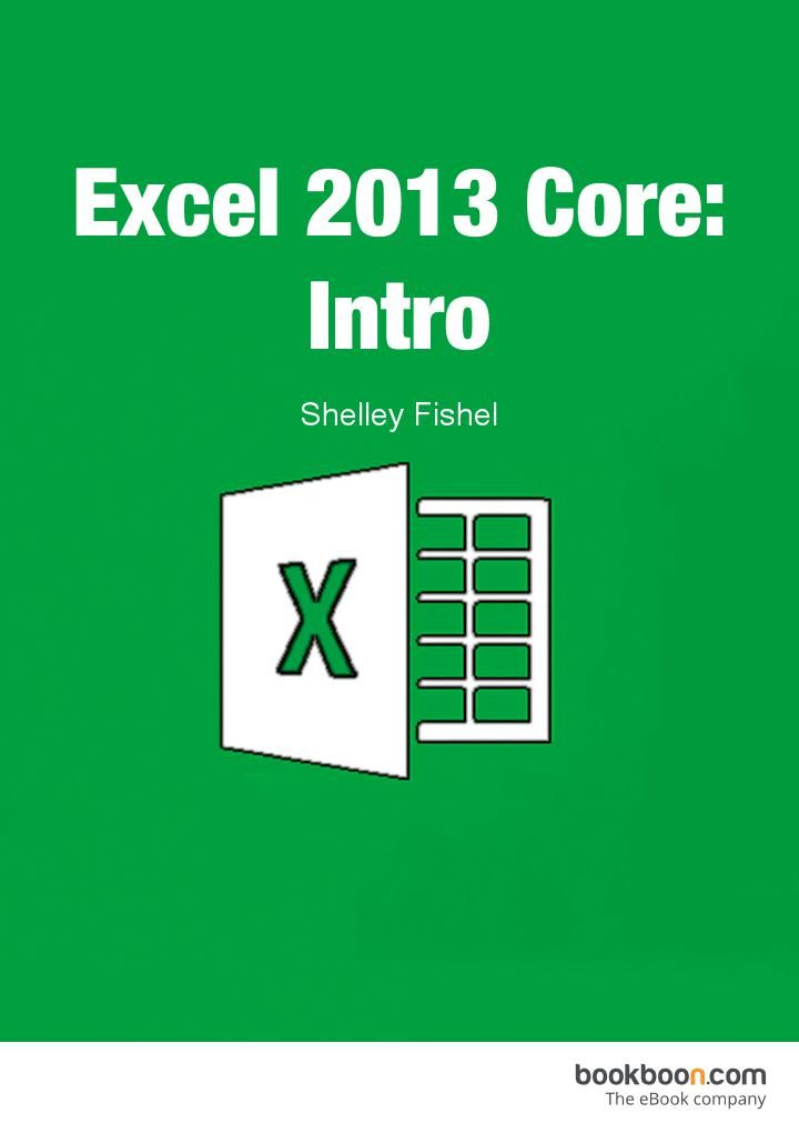 Excel 2013 Core: Intro  This user guide will take you through all the things you need to know when using Excel at a simple level.  You will learn how to: Get around Excel 2013, add text and numbers to spreadsheets, use autofill to copy formula and create series, create a basic formula, use average minimum and maximum, work with worksheets and much more