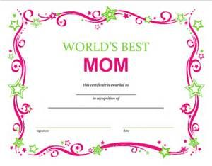 mother s day certificates printable free bing images mother s
