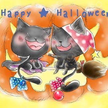 @namijima73  ピッコロちゃん、ネイルちゃんハロウィン仕様👻🎃💕 満面の笑みで描かせていただきました💕