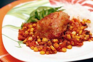 Шедевры кулинарии: Курица по-мексикански с кукурузой и красной фасоль...