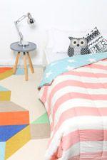 Dessus de lit motif drapeau américain