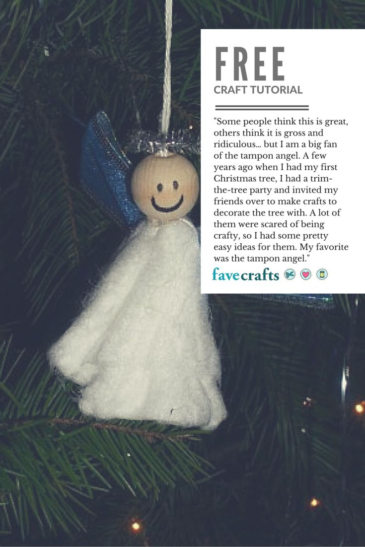 Yes, that's an angel ornament. Made out of a tampon. Um?
