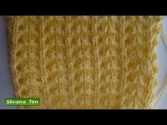 Fácil y linda puntada fantasía tejida en dos agujas o palitos punto lluvia - YouTube