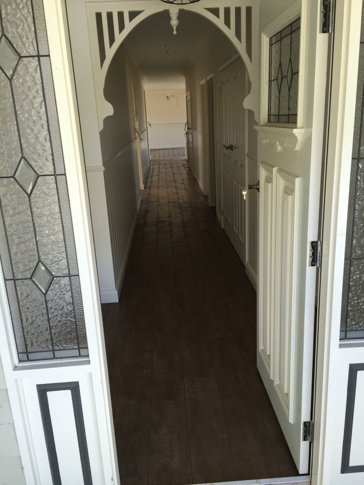Timber look tiles in 200x900 format laid on the entire main floor of this great family home.