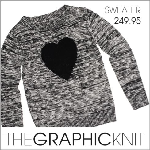 Graphic heartfelt knits change the game.