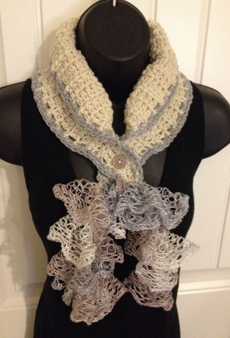 Crochet Ruffle Sashay Cowl Scarf Ebay Com Usr Betsys