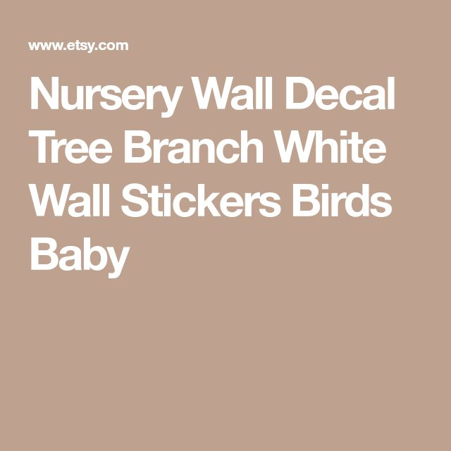 Nursery Wall Decal Tree Branch White Wall Stickers Birds Baby