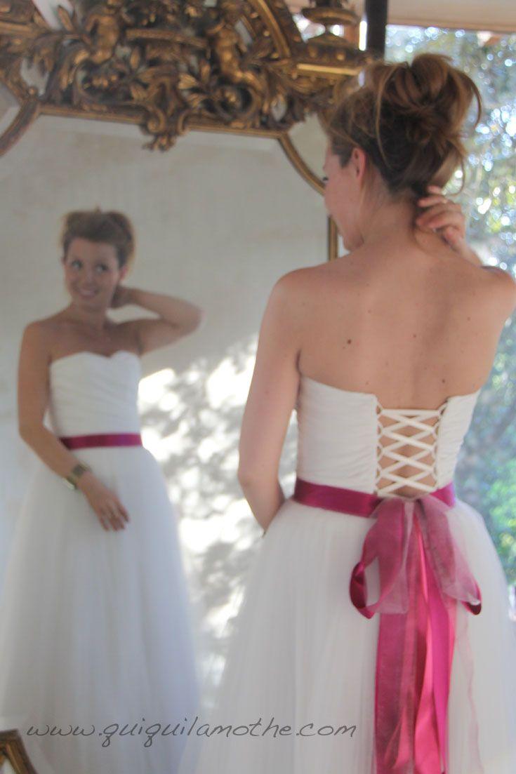 Robe de mariée enceinte glamour.