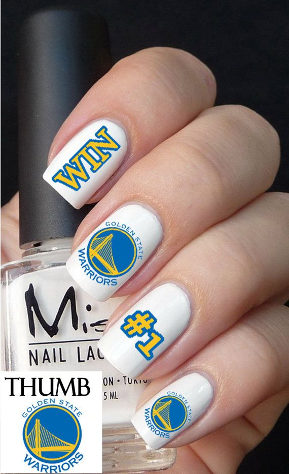 Golden State Warriors Basketball Nail Decals by DesignerNails, $4.00