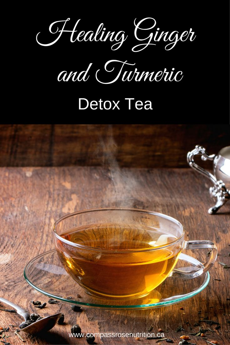 Ginger and turmeric combine with citrus and maple syrup to make the perfect blend of healing nutrients in this Healing Ginger and Turmeric Detox Tea | Immune boosting tea | Tea recipe | Detox tea | Click on post for recipe