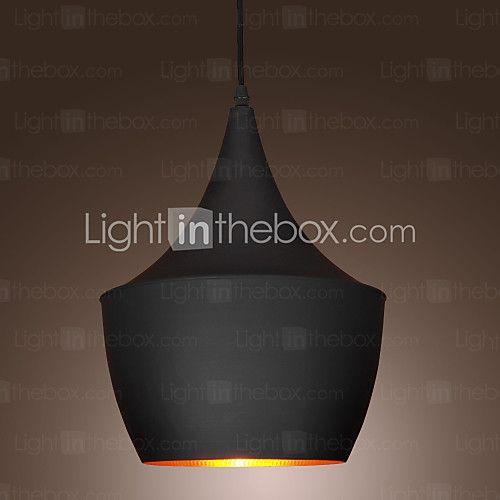 Pendant Light Retro Vintage Tom Dixon Design Black - USD $29.99