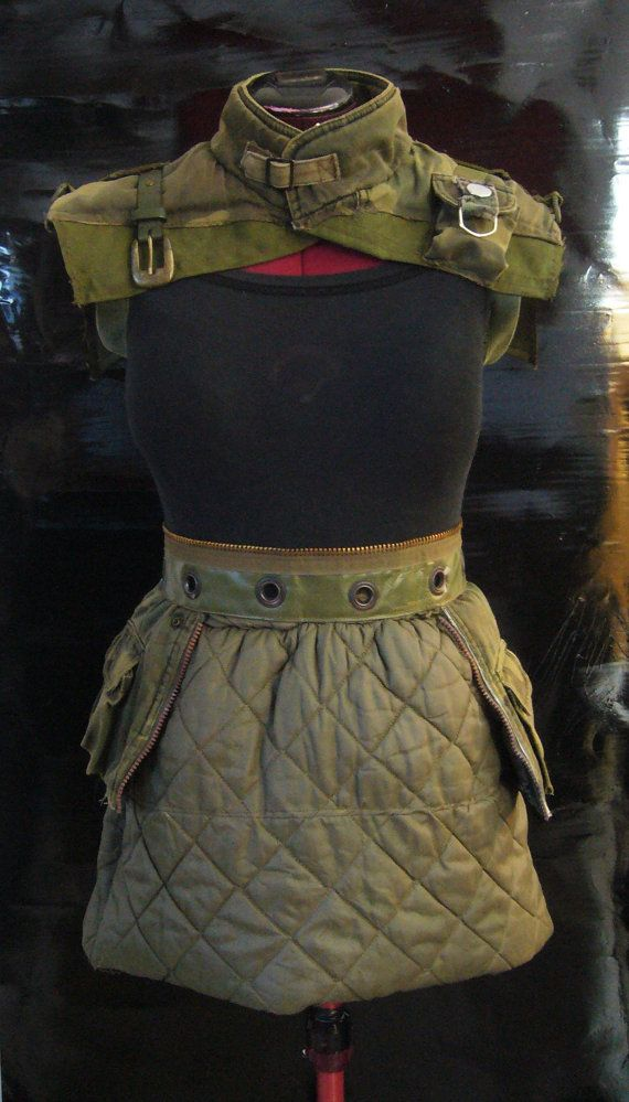 Outfit Skirt and Post-apocalyptic Top by TRASHWORLD on Etsy