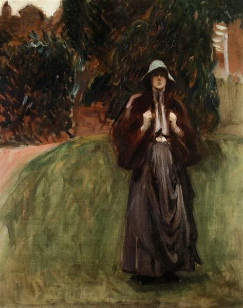 Portrait of Miss Clementine Anstruther-Thomson by John Singer Sargent. Impressionism