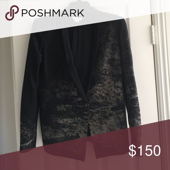 Helmet Lang Blazer Black Helmut Lang blazer with print. Made of wool and polyester. Size 8. Helmut Lang Jackets & Coats Blazers