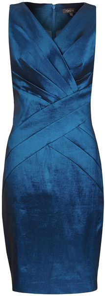 Alexon Blue Taffeta Dress