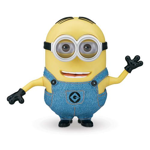 "Despicable Me 2 9-inch Talking Figure - Minion Dave - Thinkway - Toys ""R"" Us TALKING FIGURE ! It talks in the original minion voice aaah !"