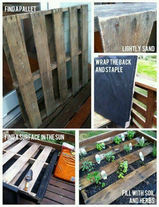 Pallet gardening........Need to try this!!!