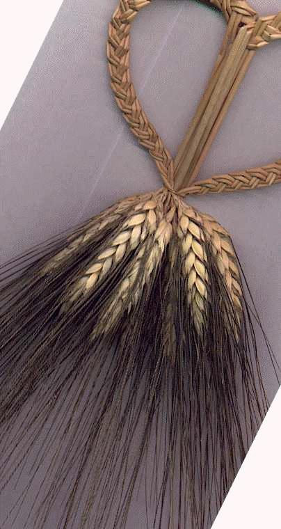 wheat weaving by Joy wheat heart