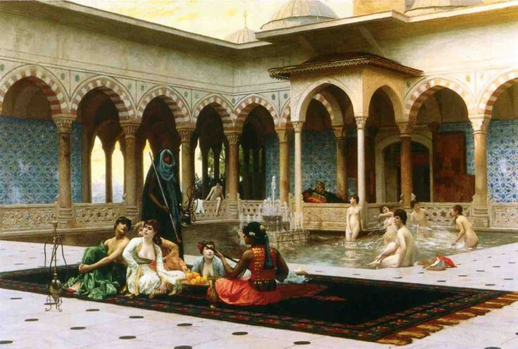 Jean Leon Gerome, The Harem on the Terrace