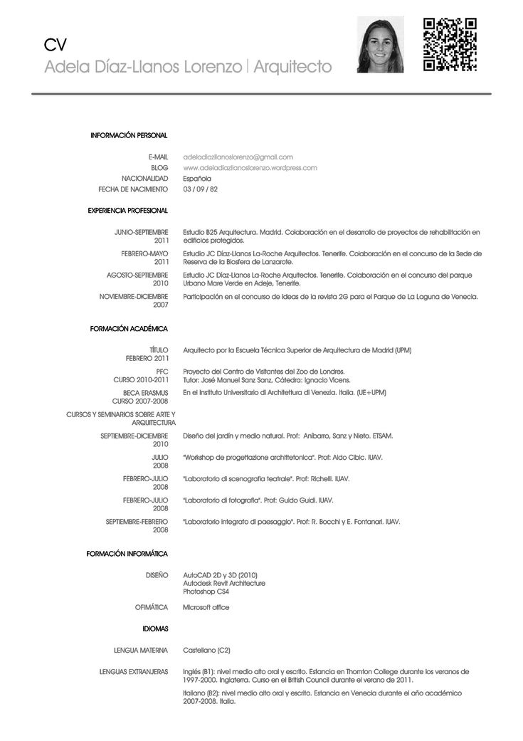 20 best Temas Trabajo y Profesiones images on Pinterest Spanish - resumes in spanish