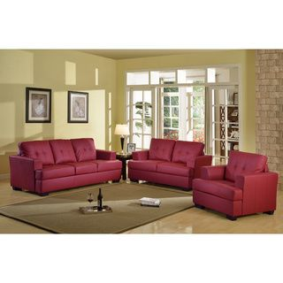 Nova Red 3-piece Living Room Set