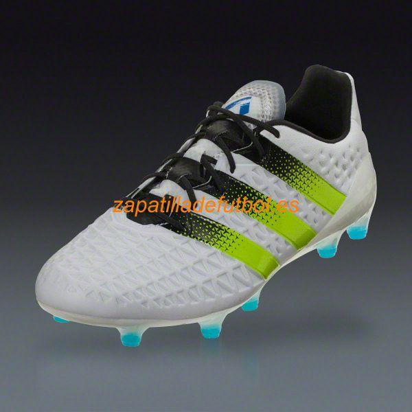 Nuevo Zapatos de Futbol Adidas Ace 16.1 FG/AG Blanco Semi Limo Solar Choque Azul
