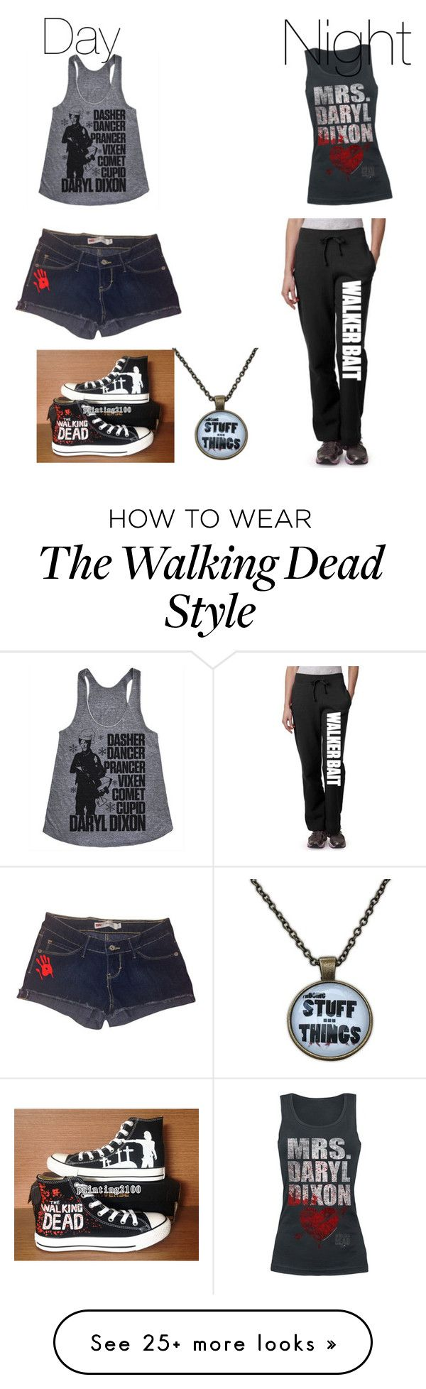 """The walking dead is the best show ever"" by cadencethompson on Polyvore featuring Converse"