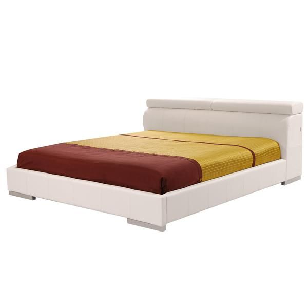 Accolade White Full Platform Bed | New Room Time Ideas!!! (: | Pinter  600 x 600
