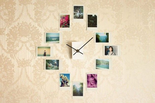 DIY Wall Clock From Your Instagram Photos